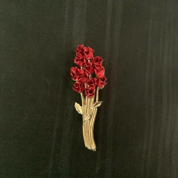 "Avon Jewelry - ""A Dozen Red Roses"" Brooch by Avon"